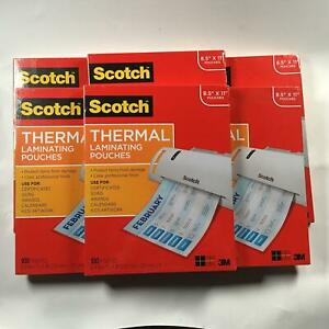 6pack scotch Letter Size Thermal Laminating Pouches 11 1 2 X 9 100 Per Pack