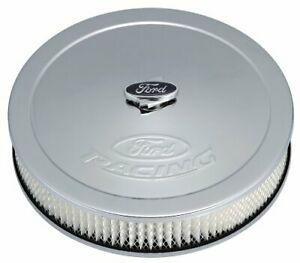 Proform 302 350 Chrome 13 Diameter Air Cleaner Kit With Raised Ford Racing Logo