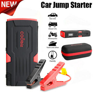 Us Battery Jump Starter 600a Peak Portable Car Suv Charger Booster Jumper Cables
