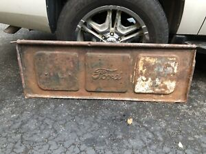 Vtg Metal Tailgate Truck Bench Ford 1920s Stepside 1930s Original Pickup Rare