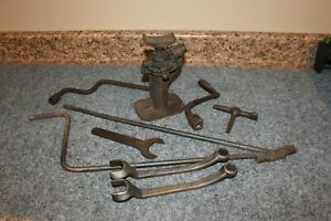 Lot Vintage Ford Model A B T Wrenches Tools Jack Estate Barn Find