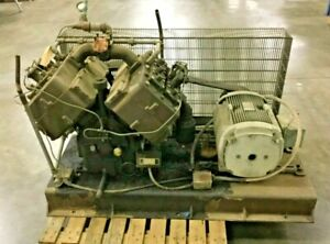 Quincy Air Compressor Model W5120 2 W Ge 30 Hp Motor Lot 253