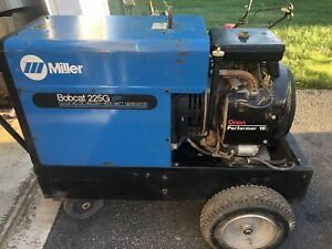 Miller 225g Plus Welder Generator 8000w Oman 16hp Motor 225 Welding Machine