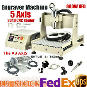 Usb 5axis 800w Cnc 3040 Router Desktop Carving Engraver Machine Water cooling Us