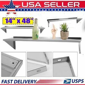 Wall Shelf Stainless Steel 14 X 48 Commercial Kitchen Steel Wall Shelf Qn