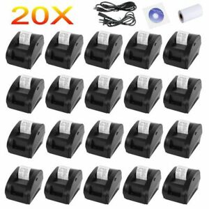 20pcs 58mm Wireless Bluetooth Mobile Thermal Receipt Printer Portable High Speed