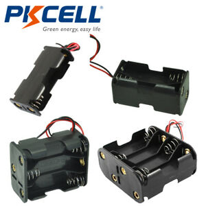 Aa Battery Holder Double Side Storage 2x 4x 6x 8x Aa Cells Case Box Wire Leads