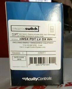 Acuity Controls Nwsx pdt lv dx wh Wall Switch Occupancy Sensor 218ht3 New