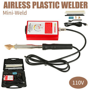 110v Portable Airless Plastic Welder Variable Temperature Mini Welder Abs Pvc Pe