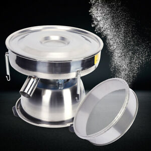 Powder Sieve Vibrating Machine Electric Screen Deck 50 Mesh Stainless Steel 110v