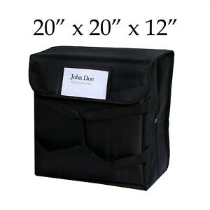 Black Insulated Pizza Delivery Bag Quality Material Restaurant Linen Store