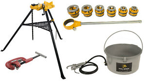 Steel Dragon Tools 12 r Threader Kit With 418 Oiler 460 Chain Vise