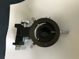 Carl Zeiss Microscope Substage Condenser Carrier With Polarization