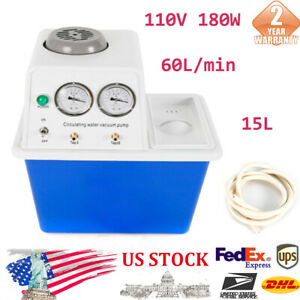 110v Laboratory 180w Double Taps Circulating Water Vacuum Pump Assembly 60l min