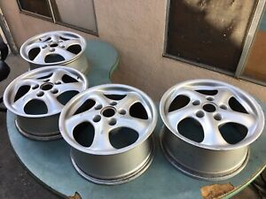 1999 2001 Porsche 911 Carrera 4 7jx17 9jx17 Wheels Set Of 4