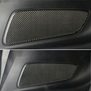 Real Carbon Fiber Rear Seat Door Handle Panel Trim Fit For Ford Mustang