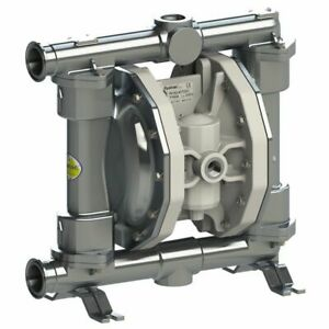 Double Diaphragm Pump By Fluimac pf50 food Grade 316 Ss Body 1 Clamp 19 Gpm