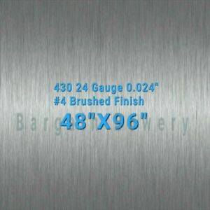 430 4 X 8 Stainless Steel Sheet Wall Covering 24 Gauge 0 024