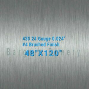 430 4 X 10 Stainless Steel Sheet Wall Covering 24 Gauge 0 024