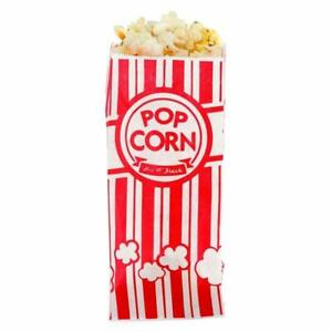 New Carnival King Paper Popcorn Bags 1 Ounce Pack Of 25 Red And White