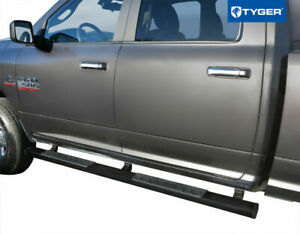 Tyger Riser 4inch Black Side Step Nerf Bars Fit 09 18 Dodge Ram 1500 Crew Cab