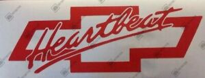 Chevrolet Heartbeat Bowtie Decal Emblem Sticker Please Read Description