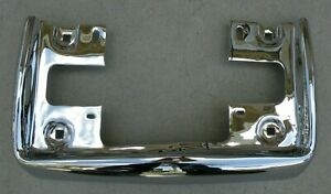 Cadillac New Triple Plated Chrome Front Bumper License Plate 1963 1964 63 64 Oem