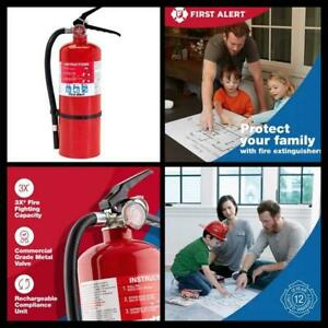 Professional First Alert Fire Extinguisher With Mounting Bracket Pro5 5lbs Red