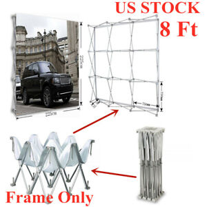 Usa 8ft Tension Fabric Pop Up Display Backdrop Stand Trade Show Banner Stand