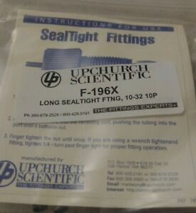 Upchurch Scientific Sealtight Ferrule F 196 X 10 Pc Packs New In Package