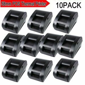 10pcs Usb Mini 58mm Pos Printer High Speed Thermal Dot Receipt Printer C0