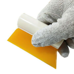10cm 4 Inch Yellow Turbo Squeegee Scraper For Auto Window Tint Film Water Clean