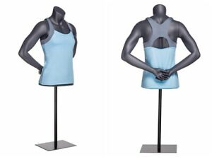Athletic Fitness Exercise Adult Female Mannequin Torso With Base