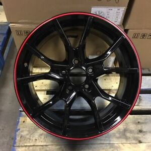 17 2018 Fk8 Civic Type R Style Wheels Rims Black Red Fits Honda Civic Ex Si Lx