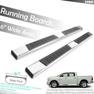 6 Side Step Aluminum Oe Running Boards For 2009 2018 Dodge Ram 1500 Crew Cab