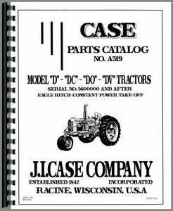 Case D Dc Dc3 Dc4 Do Dv Tractor Parts Manual Catalog With Eagle Hitch
