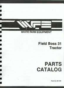 White 31 Field Boss Tractor Parts Manual Catalog