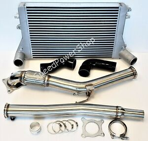 Turbo Catless Downpipe Intercooler Kit For Vw Gti Mk5 Mk6 Audi A3 2 0t