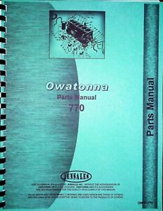Omc Owatonna 770 Articulated Skid Steer Loader Parts Manual Catalog