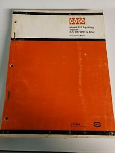 Case 870 Agri king Tractor Original Parts Manual Catalog S n 8675002 After