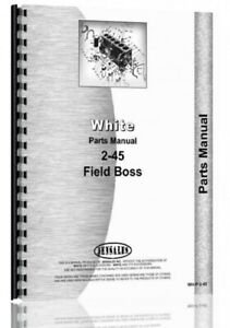 White 2 45 Field Boss Tractor Parts Manual