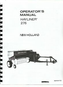 New Holland 276 Baler Operators Owners Manual