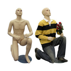 Mens Realistic Fleshtone Proposing For Marriage Mannequin Kneeling Down