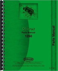 Oliver 1250 Gas Diesel Tractor Parts Manual Catalog