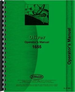 Oliver 1655 Tractor Operators Owners Manual Gas Diesel Fwa