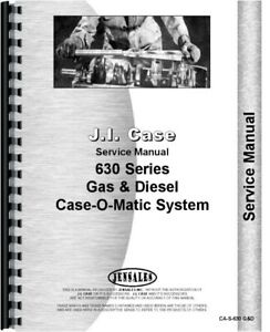 Case 630 Tractor Case o matic Transmission Rear Axle Service Shop Manual
