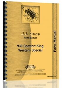 Case 930 941 Ck Comfort King Western Tractor Parts Manual Catalog Sn 8258382 Up