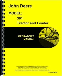 John Deere 301 Tractor Loader Operators Owners Manual Industrial Omt42366