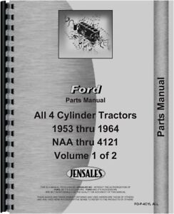 Ford 1801 501 601 701 801 2000 4000 4140 740 820 Tractor Parts Manual Catalog