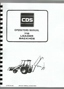 Allis Chalmers 715 Tractor Loader Backhoe Owners Operators Manual Tlb